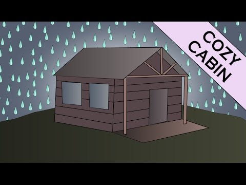 Guided Rain and Thunder Meditation in Cozy Wooden Cabin (Nature Sounds)