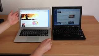 getlinkyoutube.com-Lenovo ThinkPad vs. Apple Mac Book Air - Vergleich