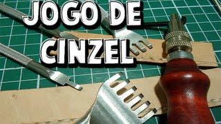 getlinkyoutube.com-Ferramenta Trabalho Couro - Jogo de Cinzel