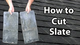 getlinkyoutube.com-How to CUT SLATE - How to cut slates Thick or Thin DIY or Trade