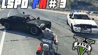 getlinkyoutube.com-GTA 5 PC - LSPDFR # 3 | Noob Cop Biker Patrol !