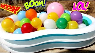 HUGE BALLOONS SURPRISE!! Water Balloon Pop Huge Surprise Toys |B2cutecupcakes