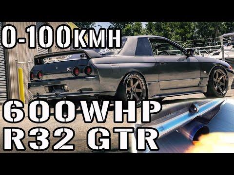 R32 GTR 0-100kph 0-60mph Nissan Skyline Flames Twin Turbo 600hp Skyline Test Review EP 27