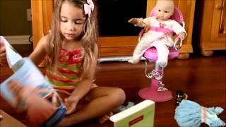 getlinkyoutube.com-Opening American Girl doll Bitty Baby Ballerina Outfit
