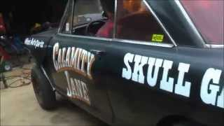 "getlinkyoutube.com-SKULL GARAGE...2015 ""CALAMITY JANE"" GASSER MORE FIXES AND IT FINALLY MOVES 11/8/15"