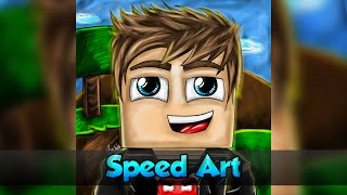 getlinkyoutube.com-[Speed Art] Avatar Cartoon (PAGO)