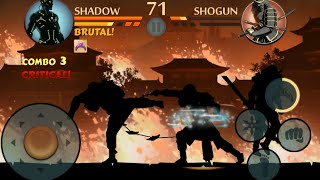 getlinkyoutube.com-Shadow Fight 2 - Shogun fighting with max level and TITAN weapon updated strip lighting
