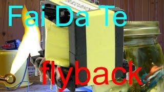 getlinkyoutube.com-Trasformatore Flyback autocostruito