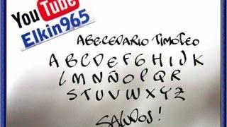 getlinkyoutube.com-Abecedario timoteo con pluma caligrafica