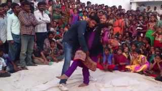 getlinkyoutube.com-Recording dance thurakapalem stage show dance  telugu natakam