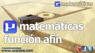 Imagen en miniatura para Funcion afin 01 (y=mx+n)
