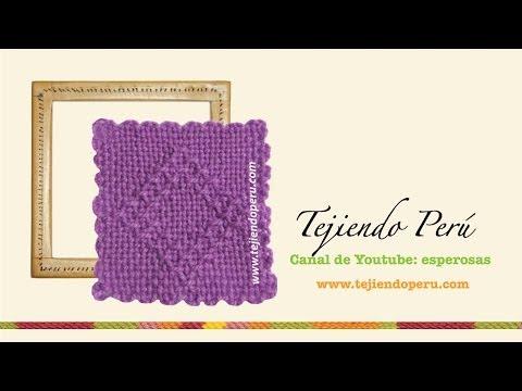 Tejido en telar de mesa cuadrado: técnica básica