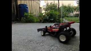 getlinkyoutube.com-Gig Nikko Turbo Panther 1986 rc car drift Casio FH-20 slow motion