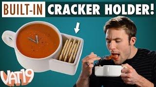 getlinkyoutube.com-Soup mug with built-in cracker caddy