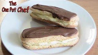 getlinkyoutube.com-10 Minute Cheater's Chocolate Eclairs | One Pot Chef