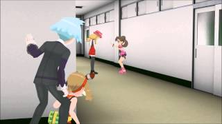 getlinkyoutube.com-[MMD Pokemon] Steven pranks Shauna!