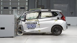 getlinkyoutube.com-2015 Honda Fit small overlap IIHS crash test