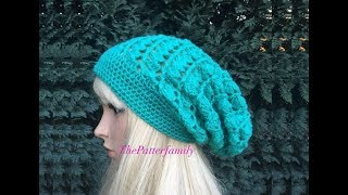 getlinkyoutube.com-How To Crochet a Slouchy Hat Pattern #34│by ThePatterfamily