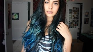 getlinkyoutube.com-Blue Hair with Sparks Colours! (Electric Blue and Mermaid Blue)