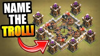 NO NAME TROLL WAR!! - Clash Of Clans - WHAT WOULD YOU CALL THIS TROLL BASE!?