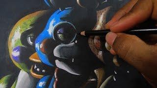 getlinkyoutube.com-Como Dibujar a Five Nights At Freddy's - Freddy Fazbear, Bonnie and Chica