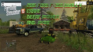 getlinkyoutube.com-Farming Simulator 2015 Mods- 2015 Ford F-350 Dually, Crane, Lowboy and More!