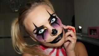 getlinkyoutube.com-Creepy Clown Halloween Make Up  Tutorial