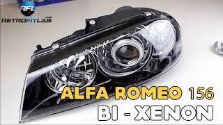 getlinkyoutube.com-Alfa Romeo 156 Bi xenon projector headlight retrofit installation video