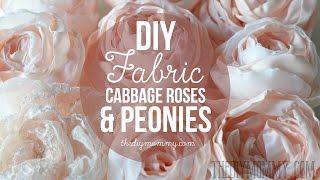 getlinkyoutube.com-How to Make Realistic DIY Fabric Roses and Peony Flowers