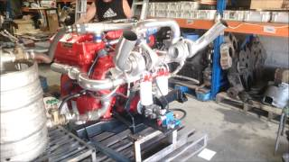 Detroit Diesel 6V92TA DECCII twin turbo 400 HP first start up Australia