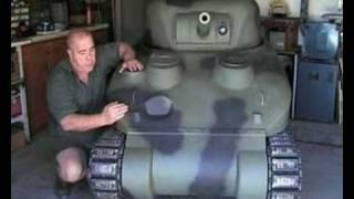 getlinkyoutube.com-How to build a 2/5 th scale SHERMAN Tank. part 1