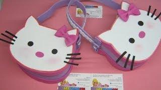 getlinkyoutube.com-BOLSOS O COTILLONES EN FOAMY GOMAEVA  DE HELLO KITTY CON MOLDES - FIESTAS INFANTILES