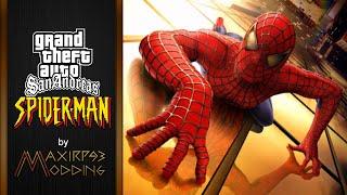 getlinkyoutube.com-Trailer GTA SA Spiderman Mod