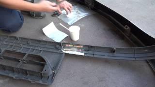 エアロパーツ-割れ-破損-亀裂-自分でプラスチック修理,FRP接着補強で直す12