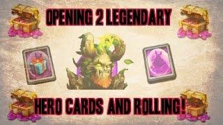 getlinkyoutube.com-Castle Clash Opening 2 Legendary Hero Cards and Rolling Gems