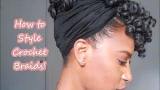 getlinkyoutube.com-Simple Updo  with Crochet Braids