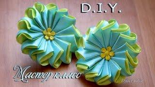 getlinkyoutube.com-ЦВЕТОК ИЗ ЛЕНТ на резинке. МК /  flower Ribbon  DYI / Djuce Julia