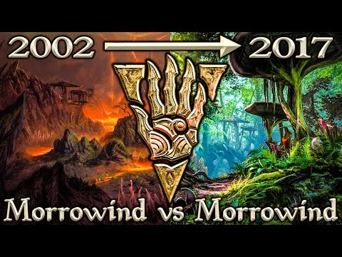Morrowind vs Morrowind ESO - Side By Side Comparison