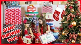 getlinkyoutube.com-BIGGEST SURPRISE EVER - Opening Giant Christmas Presents - Holiday Surprise! Early Christmas Gifts