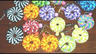 getlinkyoutube.com-34. How to make best Quilling Boondoggling Paper Weaving Earrings