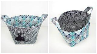getlinkyoutube.com-{Step-by-Step Sewing} Reversible Fabric Storage Bag