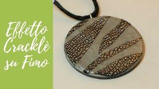 getlinkyoutube.com-Tutorial: Foglia argento con effetto cracklè su ciondolo in fimo (polymer clay tutorial) [sub-eng]