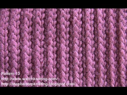 (Striped stitch) - Simple Patterns - Free Knitting Patterns Tutorial - Watch Knitting - pattern 13