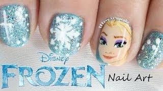 getlinkyoutube.com-Frozen Nail Art  - Elsa