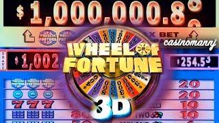 "getlinkyoutube.com-$1 WHEEL OF FORTUNE 3D SLOT ""LIVE PLAY"" - Big Win! - Slot Machine Bonus"
