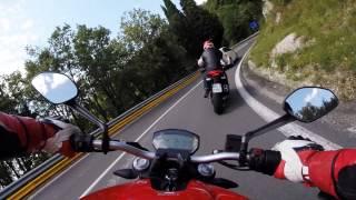 getlinkyoutube.com-Ducati Monster 821 on board video, Bologna - Italy, Ducati Academy (engine sound only)