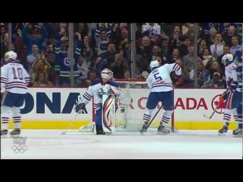 Canucks Vs Oilers - Daniel Sedin 1-0 Goal - 01.24.12 - HD