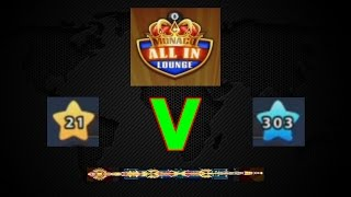 8 Ball Pool - ALL-IN 40 Million [Level (21 Vs 303)] Epic Gameplay (#1)