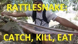 getlinkyoutube.com-Rattlesnake: Catch, Kill & EAT! DANGEROUS