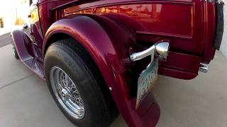 getlinkyoutube.com-1931 Ford Model A Pick Up Street Rod Blown Corvette V8 HD GoPro